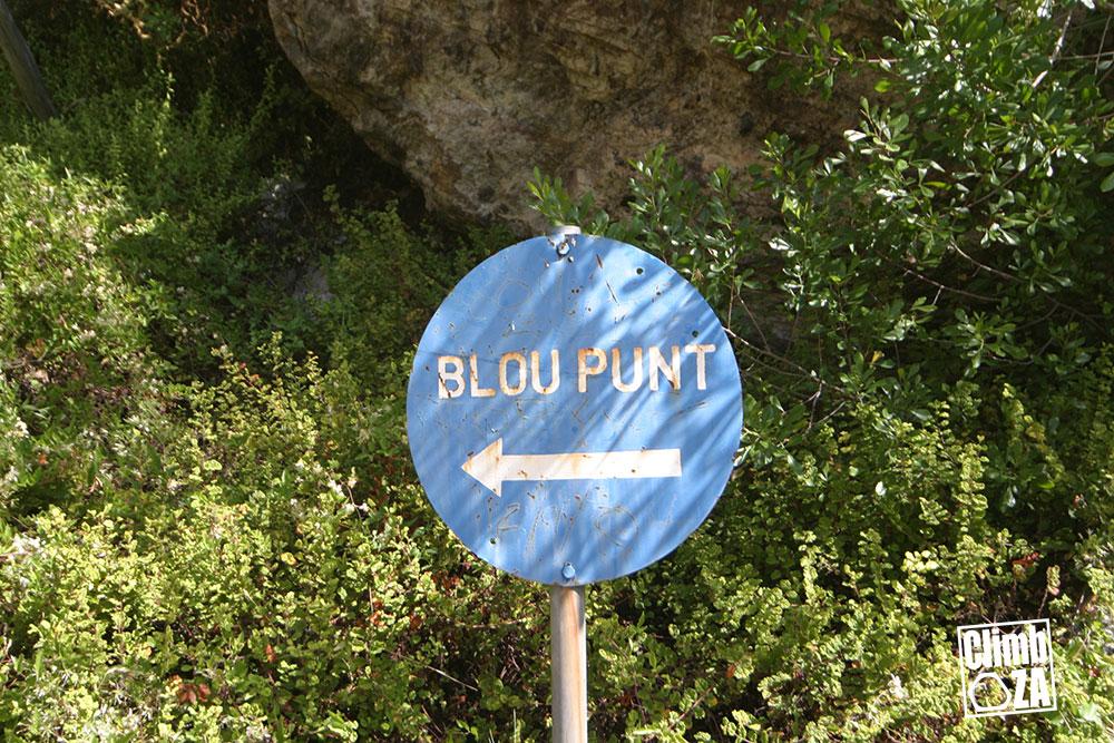 Montagu Hiking Trails - Bloupunt sign