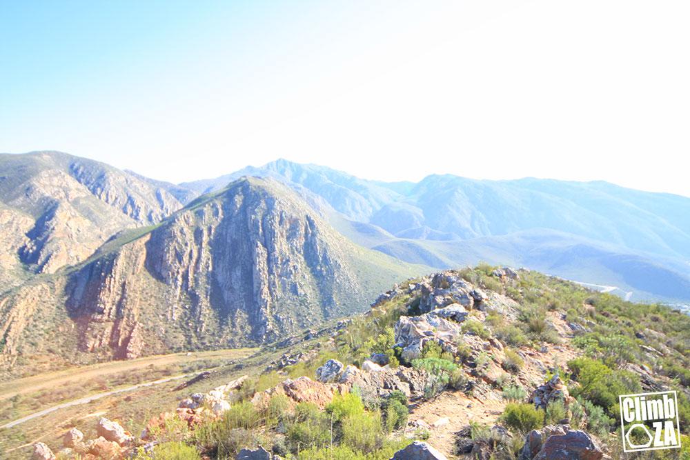 Montagu Hiking Trails - Aasvoëlkraans view across to Bold & Beautiful crag