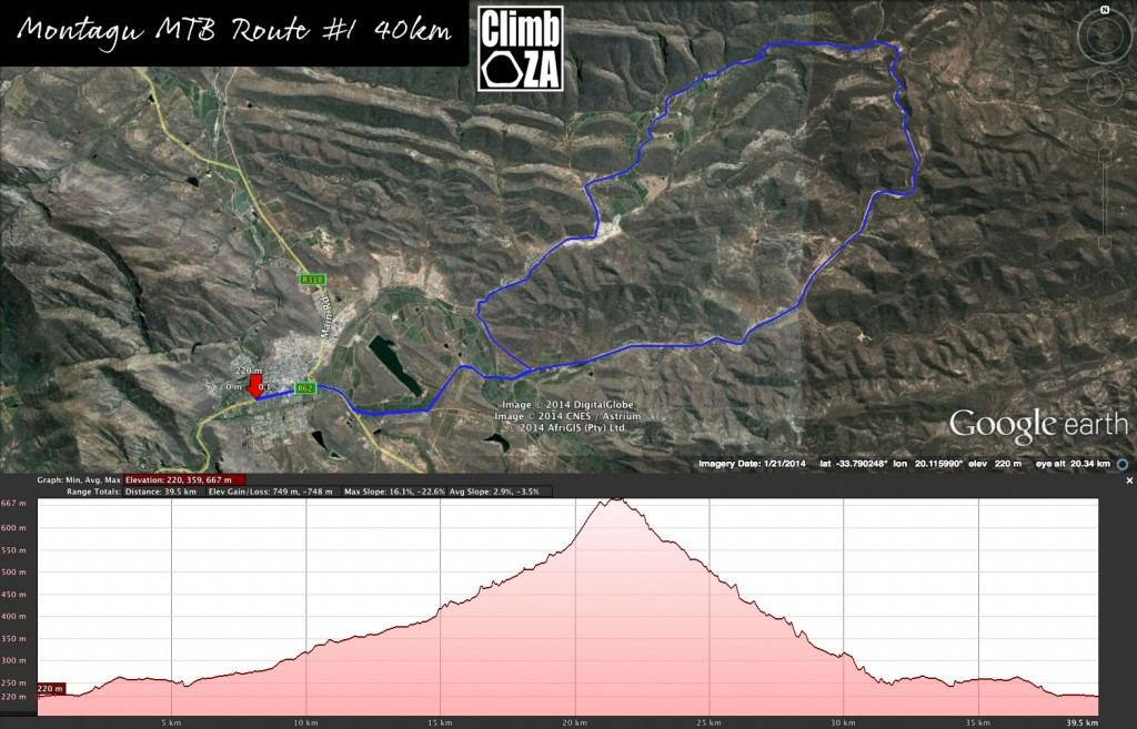 Montagu Mountain Bike Map