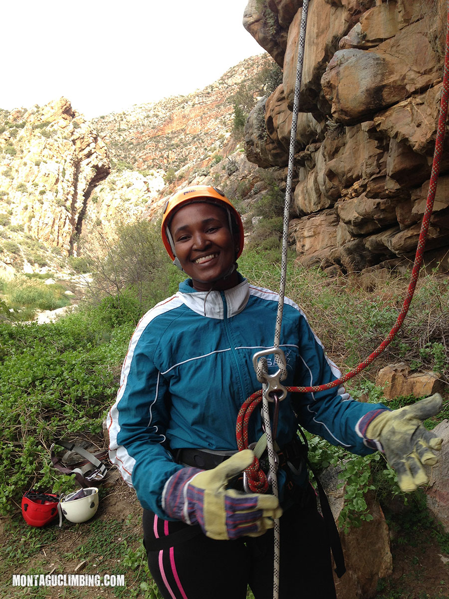 Teambuild abseiling in Montagu