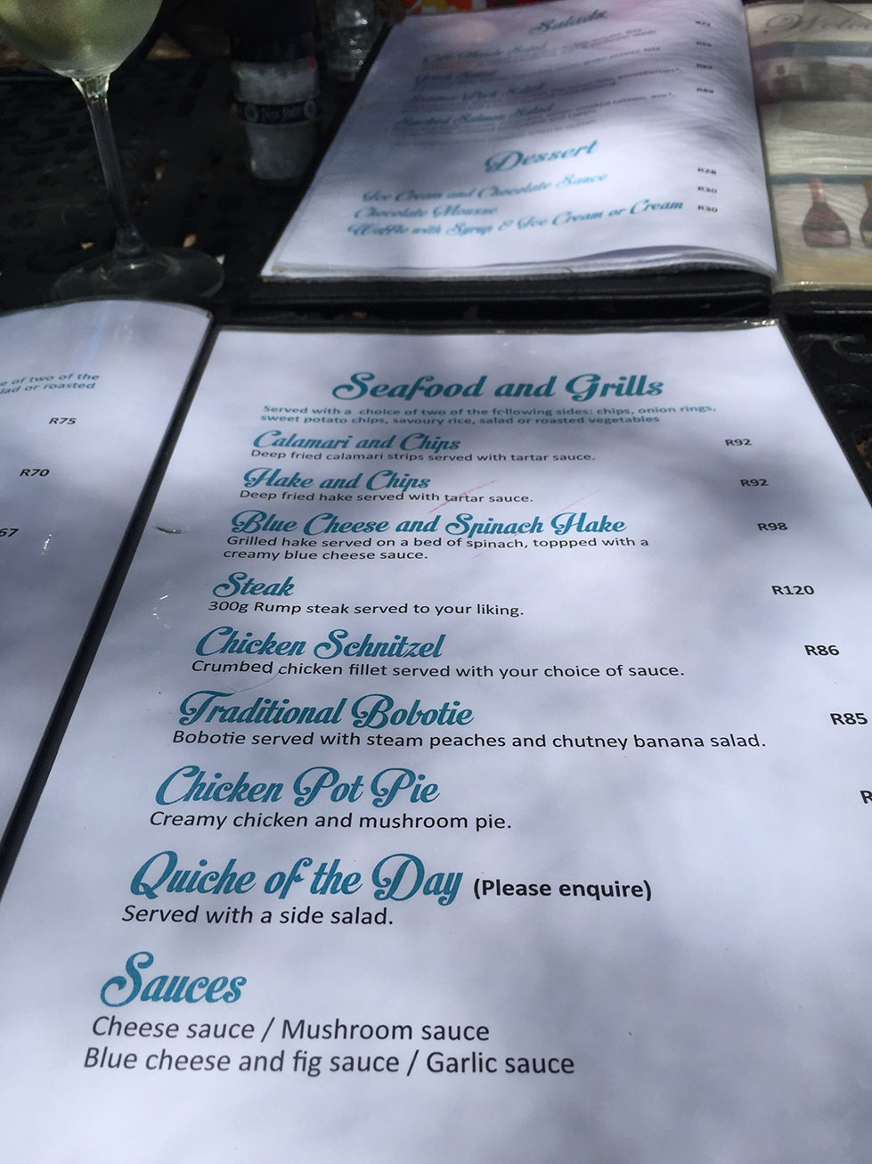 Cafe Maude Menu