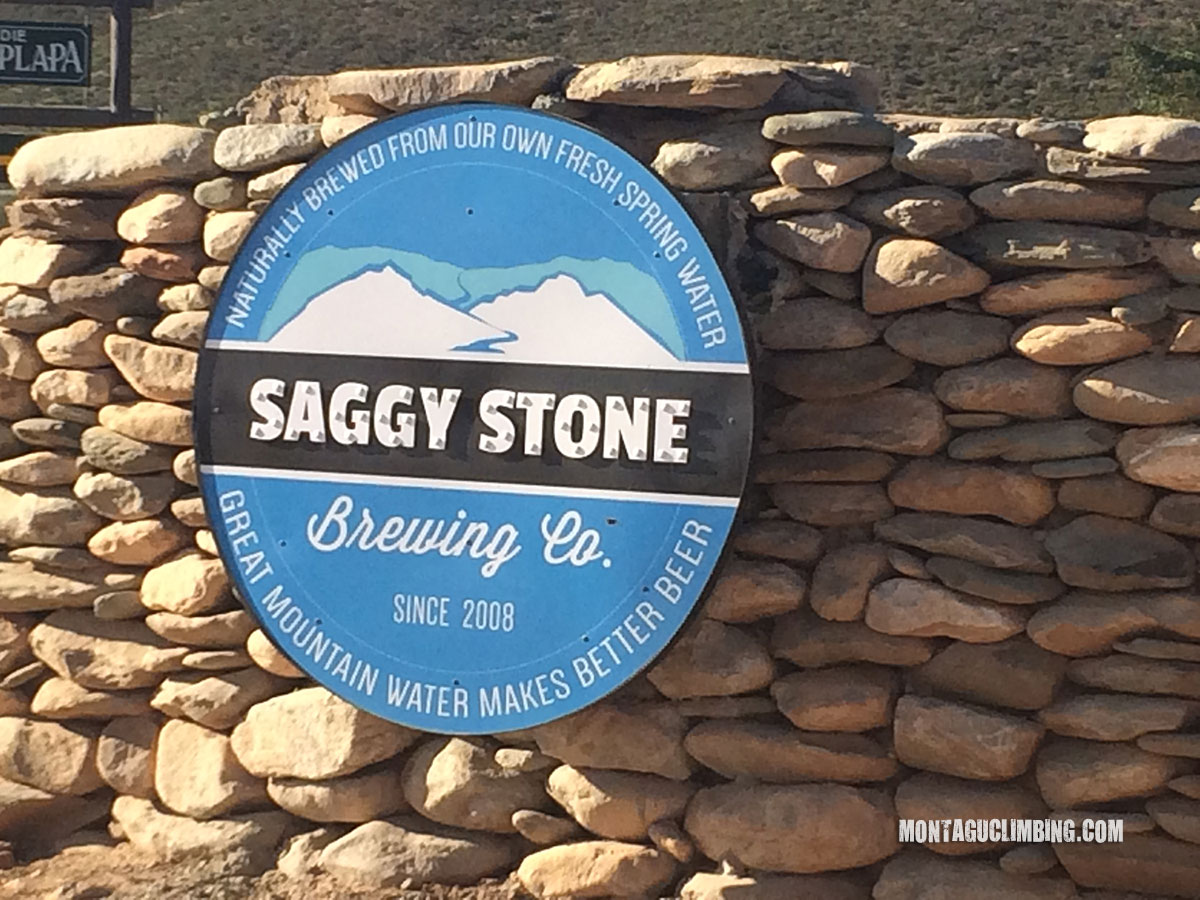Saggy Stone Sign