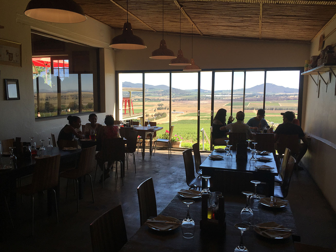 The Spice Route Paarl Pizzeria view