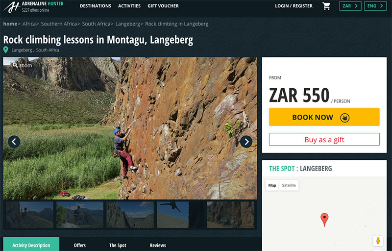 rock climbing adrenaline hunter